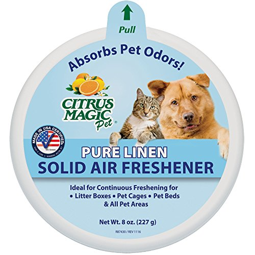 Price comparison product image Citrus Magic Pet Odor Absorbing Solid Air Freshener, Pure Linen, 8-Ounce