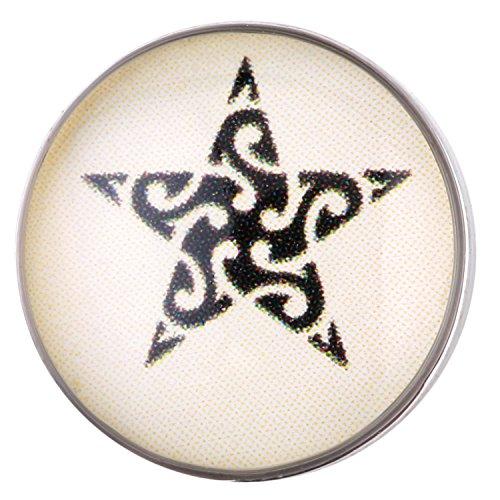 Morella ® pour petit click-button lot de 3 boutons pression pour bijou femme à motifs ø 12 mm tiger léopard/motif étoile
