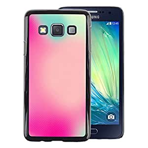 A-type Arte & diseño plástico duro Fundas Cover Cubre Hard Case Cover para Samsung Galaxy A3 (Blurry Colors Watercolor Focus Pink Blue)