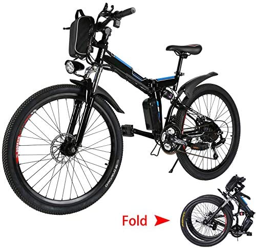 emdaot 26 Electric Mountain Bike with Removable Lithium-Ion Battery 36V 250W , Electric Bike 21 Speed Gear and Three Working Modes