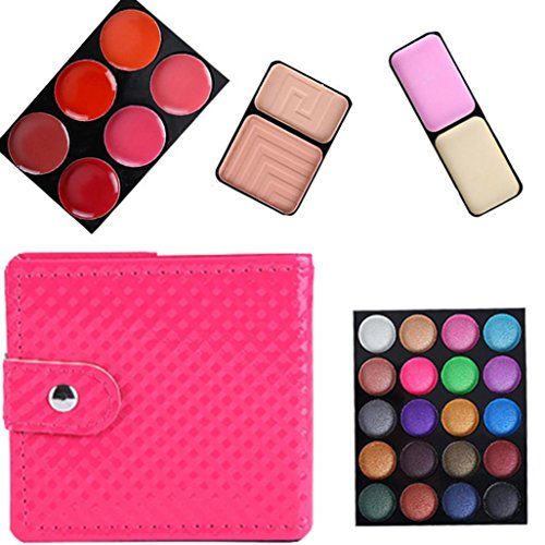 Eye shadow Sandistore 32 Color Cosmetic Matte Eyeshadow Cream Eye Shadow Makeup Palette Shimmer Set (Red)
