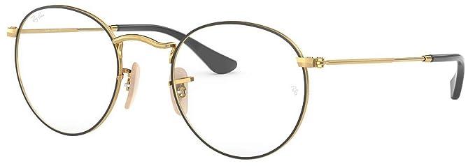 ccf3e1f2a63b ... switzerland ray ban mens rx3447v round metal eyeglasses gold on top  black 50mm f9e19 049f0