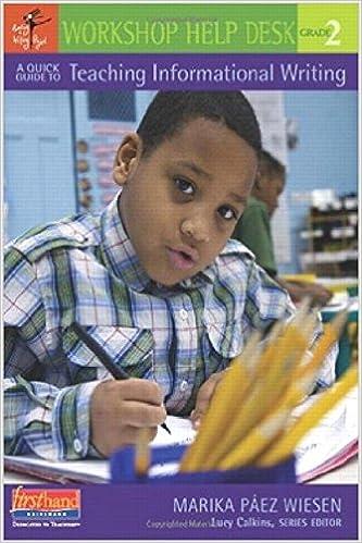 Amazoncom A Quick Guide To Teaching Informational Writing Grade 2