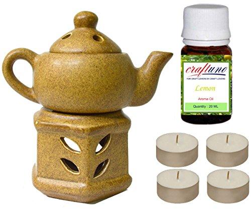 Royal artesanía hecha a mano PREMIUM luz de té aroma quemador de aceite de cerámica difusor de aceite/–Étnico...