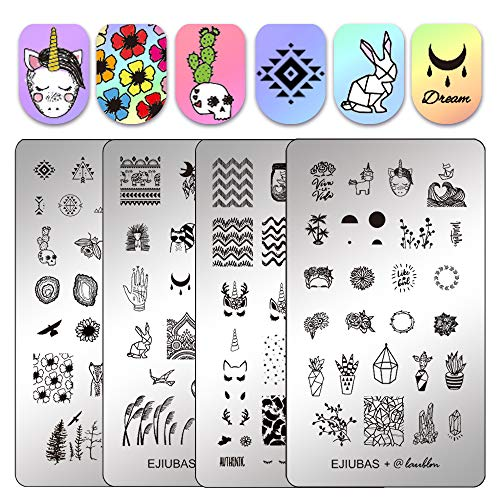Ejiubas Stamping Plates Double-sided Nail Stamp Plates for sale  Delivered anywhere in USA