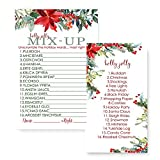 Holiday Floral Christmas Word Scramble Party Game Set ( 25 Pack )
