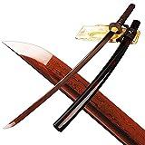 Shijian Folded Steel 2048 Layer RED Blade Full Tang Samurai Sword KATANA Can