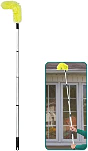 Daisypower Gutter Cleaning Brush Roofing Guard Cleaner Tool with 5.5 ft Telescoping Extension Pole, Easy Remove Leaves and Debris from The Ground