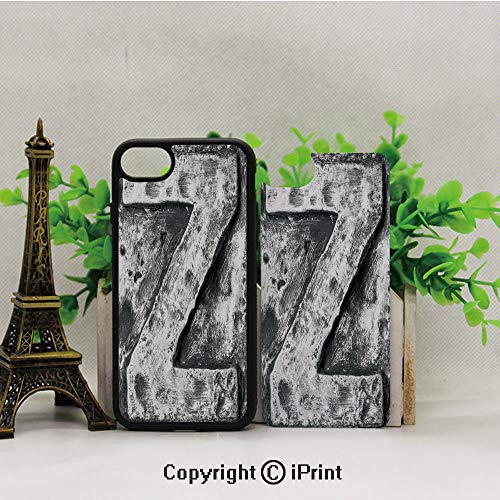 iPhone 8 Case,iPhone 7 Case,Capital-Z-Letter-Name-Identity-Initials-VIP-Rusty-Tone-Effects-Aged-Look-Print-Decorative,Lining Hard Shell Shockproof Full-Body Protective Case - Capital Billfold