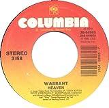 WARRANT 45 R.P.M. RECORD------HEAVEN/IN THE STICKS