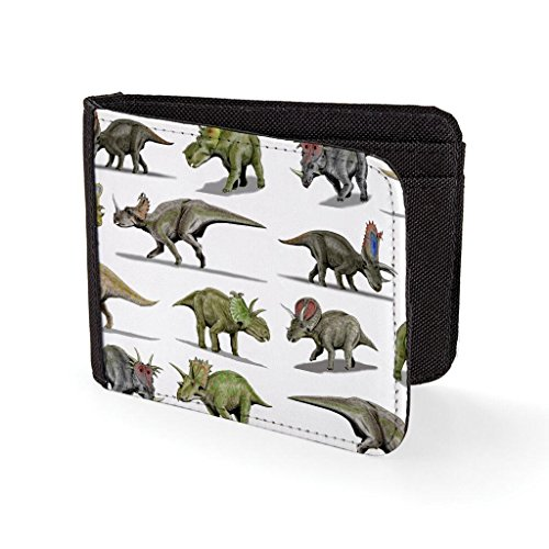 Dinosaur Retro Hipster Fun Sublimation Printed Purse Card Holder Wallet ()