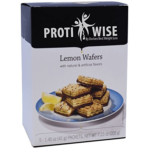 ProtiWise - High Protein Diet | Lemon Wafer | Low Calorie, Low Sugar, Low Fat (5/Box) by Proti Wise