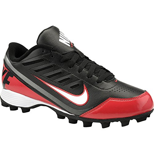 NIKE Mens Land Shark II Low Football Cleats/Shoes 8 D(M) US Black White Red