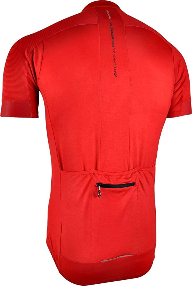 SILVINI Mens Ceno Cycling Jersey Made of Lightweight Fabric with Full Length Zipper and Slim Fit Cut