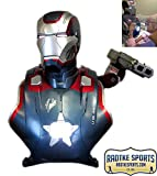 Stan Lee Autographed/Signed Sideshow Collectibles Marvel Iron Man Iron Patriot Life-Size Light Up Bust