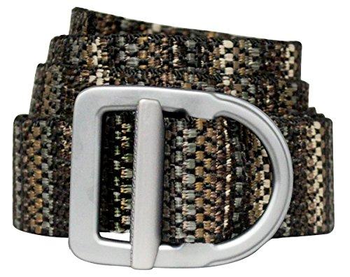 "Bison Designs Delta Belt - by - Light Duty 38mm - USA Made - Ragtime XL, Black, up to 46"""
