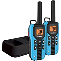 Uniden 40-Mile GMRS/FRS Radio - 2 Radios, Micro USB, Charge Cradle, Splashproof, Blue/Black