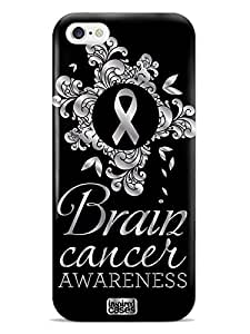 Inspired Cases 3D Textured Brain Cancer Awareness Flower Design Case for iPhone 6 & 6s