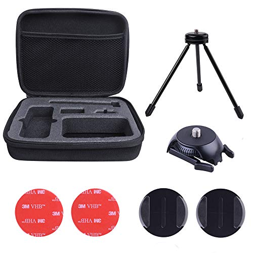 Koroao Carrying Case Storage EVA Bag Compatible for Insta360 ONE X 360 Camera Including Tripod Curved Flat Mount 3M Tape