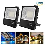 Richday New 2Pack 150W LED Flood Lights,12000Lm 360 Lamp Beads,Waterproof IP66,Daylight White 6500k 85V-265V ,Outdoor Work Light for Garage, Garden, Lawn and Yard