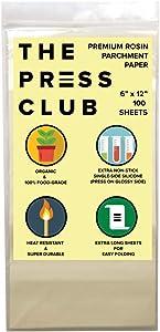 Premium Super Slick Parchment Paper Squares | 100 Sheets | 6