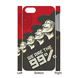 XOXOX V for Vendetta 2 Phone 3D Case For Iphone 4/4s [Pattern-2]
