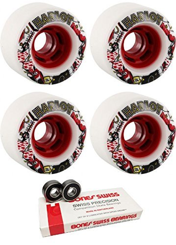 Krooked Skateboard Cruiser Wheels ZIP ZINGER 80HD 56mm w// BONES REDS Bearings