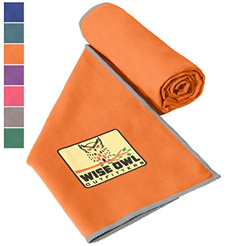 Microfiber Camping Sports Towel With Free Extra Towel & Bag Included! Super Absorbent Quick Drying Compact Towels With Hang Loop, Best For Hiking Backpacking Pool Gym Yoga & Travel 30x60 OR (Sports Equipment & Outdoor Gear)
