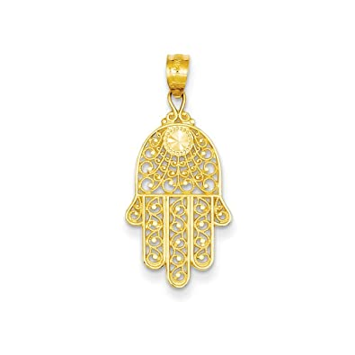 diamond pendant charm mens large hamsa yg size front gold pendants men