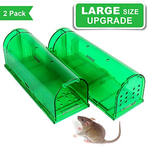 Mouse Trap Humane Rat Trap Live Mouse Trap Catch and Release,No Kill, No Pain,Safe Walk The Plank Mouse Trap 2019 Upgraded Version 2 Pack