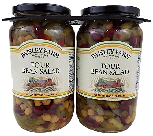 Paisley Mix - Paisley Farm 2- 35.5 Oz Natural Four Bean Salad, 71 Oz