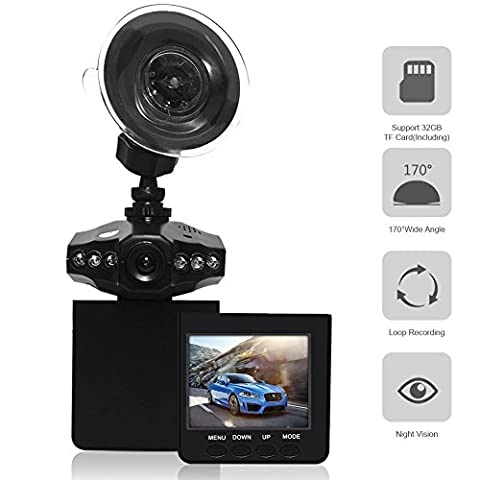 Car Video Recorder,econoLED Camera Vehicle Dash Cam DVR Dash Video Dash Cam Car Driving Video Recorder Camera 2.5 inch TFT LCD Screen Vehicle Video Camera Loop Recording with 1080P Night (Jvc Everio Sd Card)
