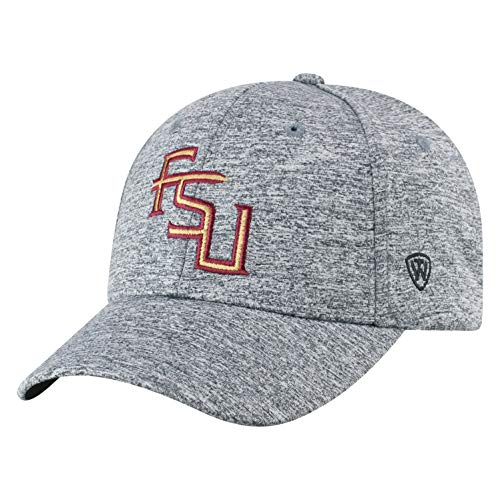 Top of the World Florida State Seminoles Men's Hat Icon, Charcoal, Adjustable (Florida Hat State)