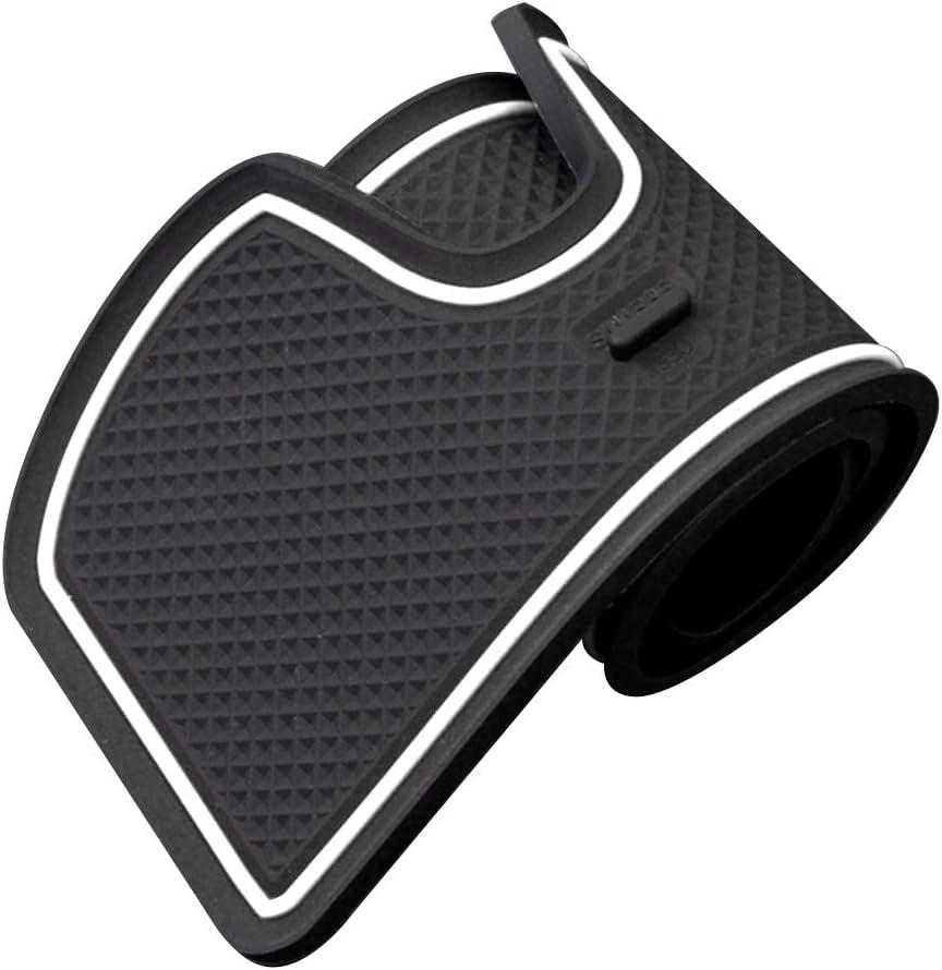 ALLYARD Custom Fit for Range Rover Evoque 2012-2018 Door Gate Slot Storage Pad Interior Cup Mats Console Liner Accessories Non-Slip Anti-dust Rubber 8Pcs//Set White