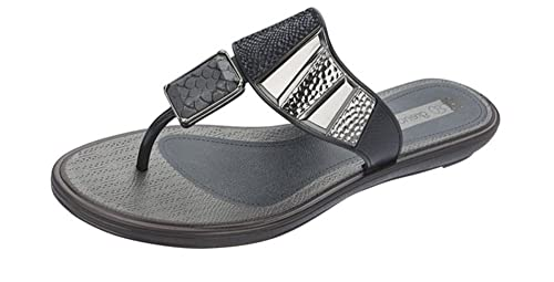 0f0950db8 Grendha Allure Thong Womens Flip Flops Sandals - Black Snake - SIZE US 5
