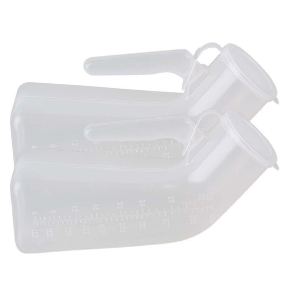 Transparent 1000ml Car Travel Camping Men's Male Pee Urinal Bottle Emergency Toilet Pack of 2 by BQLZR (Image #1)
