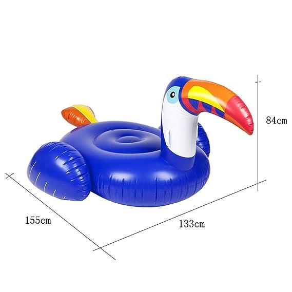 Flotador inflable gigante de la piscina del tucán - Hanmun Nueva serie Paseo del flotador del tucán de gran tamaño en la fiesta de la piscina de la ...
