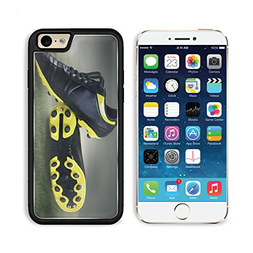 MSD Premium Apple iPhone 6 iPhone 6S Aluminum Backplate Bumper Snap Case IMAGE ID 27035651 Footbal boots Soccer boots shoot at ()