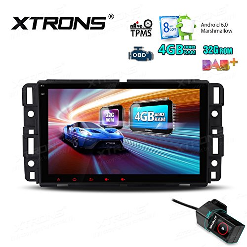 (XTRONS 8 Inch Android 8.0 Octa Core 4G RAM 32G ROM Multi Touch Screen Car Stereo Player GPS DVR Wifi TPMS OBD2 for GMC Chevrolet Hummer with DVR)