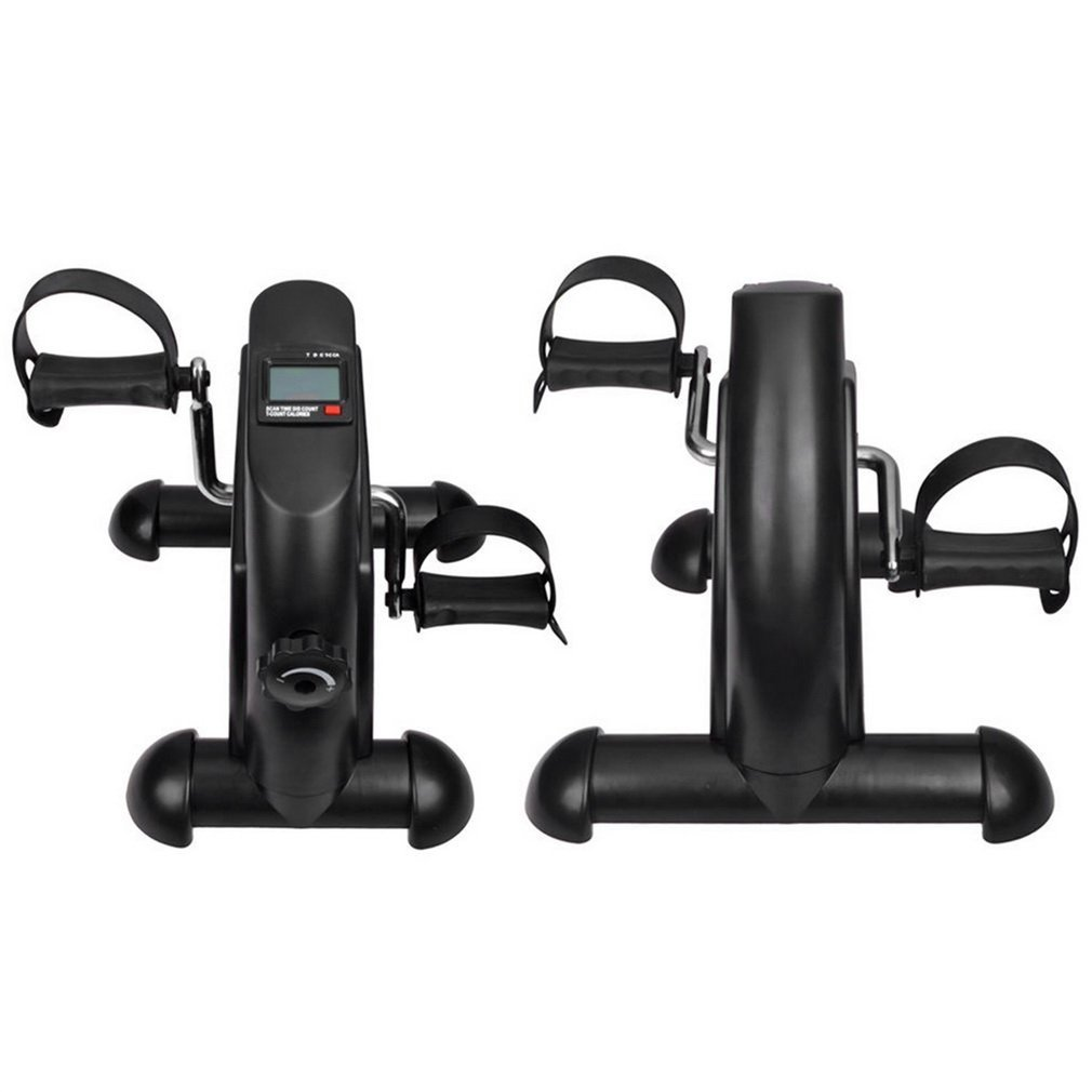 Sweepingy Mini Portable Pedal Exerciser Exercise Bike Indoor Fitness with Digital LCD Display Adjustable Knob Cycle Designed for Either Hands or Feet