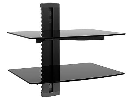amazon com monoprice 2 shelf wall mount bracket for tv components rh amazon com audio shelf wall mount audio video component shelf wall mount