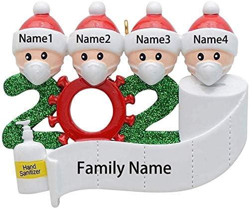 Christmas Ornament 2020 Personalized Name Quarantine Survivor Family DIY Christmas Decorating Kit Creative Gift for Family
