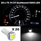 dash board 2003 nissan altima - Partsam 20x White Led SMD T5 Speedo Dashboard Instrument Gauge bulbs 17 37 73 74 For 2000-2012 Toyota Camry