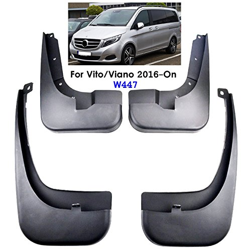 XUKEY Auto Molded Splash Guards For Benz Metris Vito V-Class W447 2016-2018 Mud Flaps Front /& Rear 4 Pieces Set