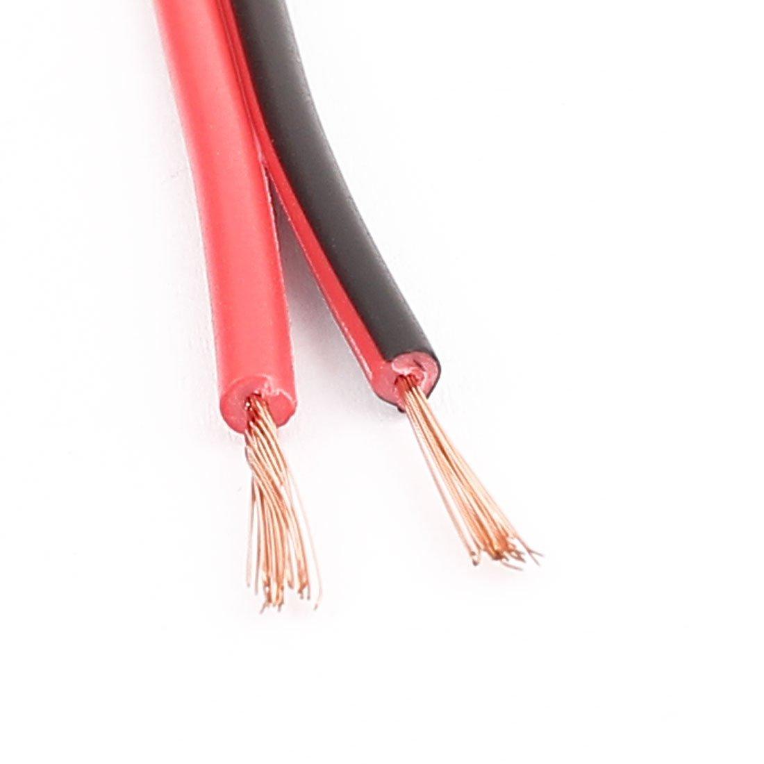 20M 0.5mm2 2 Strand Extension Fil de c/âble /électronique Noir Rouge