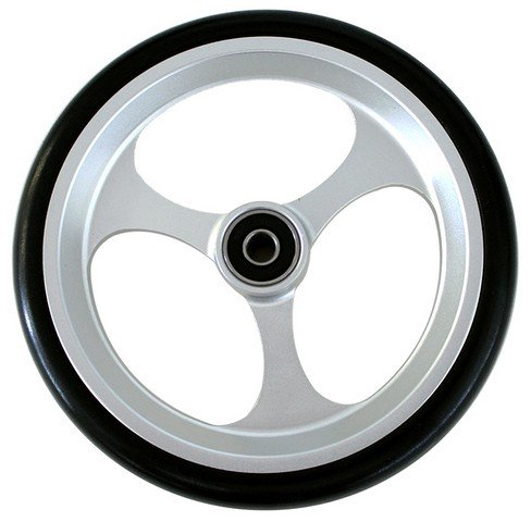 New Solutions CW507 6 x 1 in. Aluminum Caster with 0.32 in. Bearings & Black Tire Wheelchair
