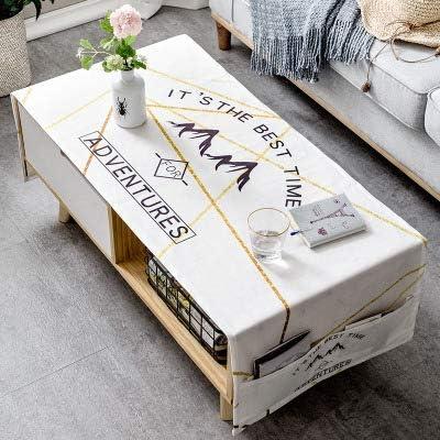 Yczz Accueil Nordic Epaisse Nappe En Coton Table Basse Salon Nappe Rectangulaire 70 X 160 Cm Double Rangement De Poche Montagnes Nappe Amazon Fr Cuisine Maison