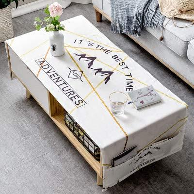 YCZZ Casa Mantel De Algodon Grueso Nordico, Mantel Rectangular De La Mesa De Centro De La Sala De Estar 65 x 170cm (Almacenamiento de Bolsillo Doble) Montanas Ma