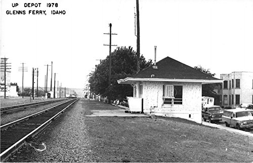 Glennis Ferry Idaho 1978 view of Union Pacific train depot real photo pc - Ferry Union Depot