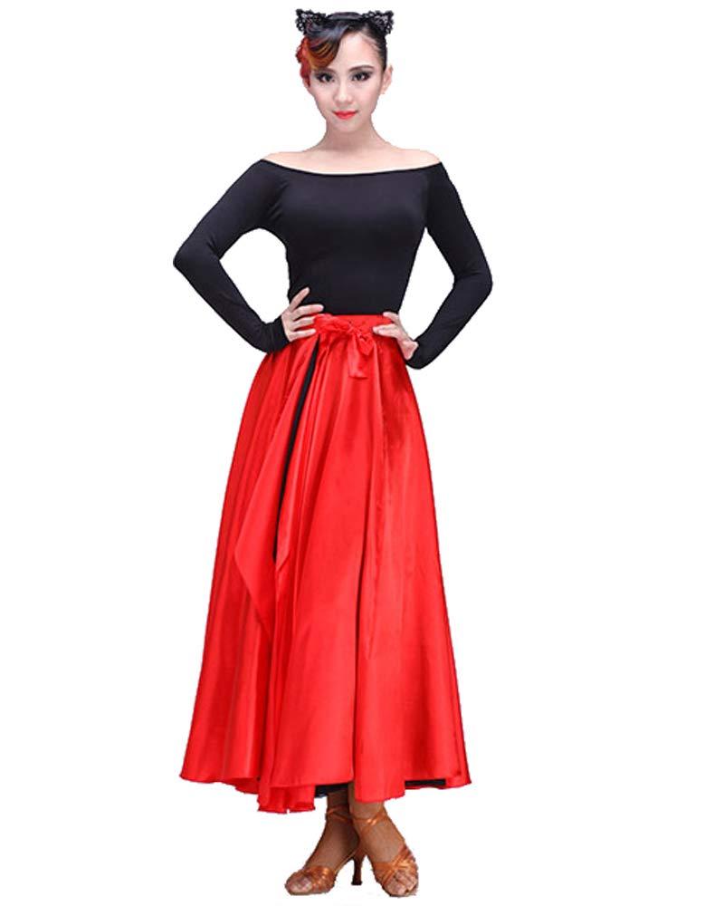 Grouptap Flamenco Rouge Espagnol Femmes mexicaines Mesdames Adulte Fantaisie Jupe Robe Costume Rumba Salsa Tango Childs Taille Danseur Parti Tenue